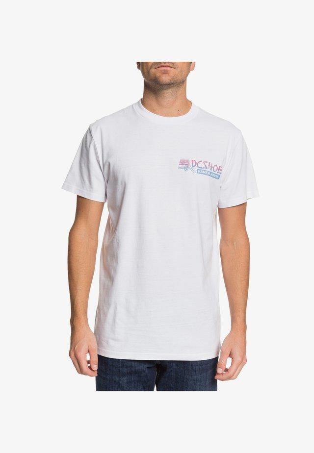 DC SHOES™ 100 PERCENT MSG  - T-SHIRT FÜR MÄNNER EDYZT04103 - T-Shirt print - white