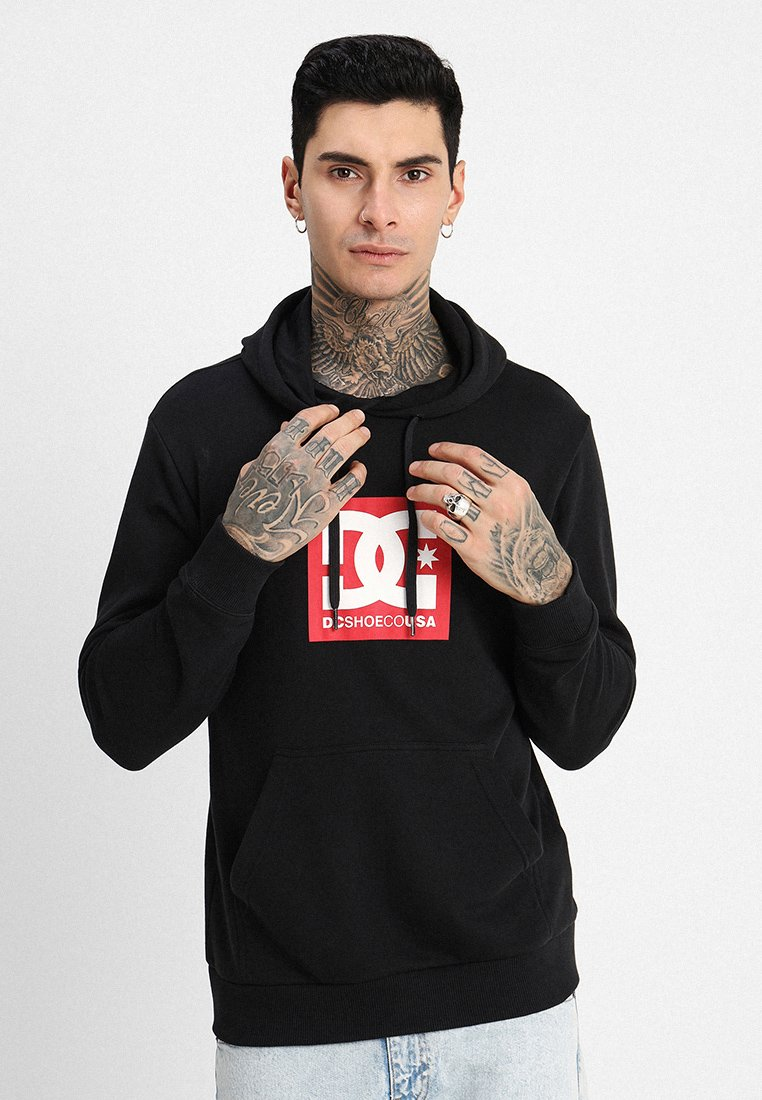 DC Shoes - SQUARE STAR - Jersey con capucha - black
