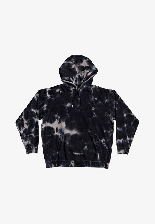 Hoodie - frost grey tie dye