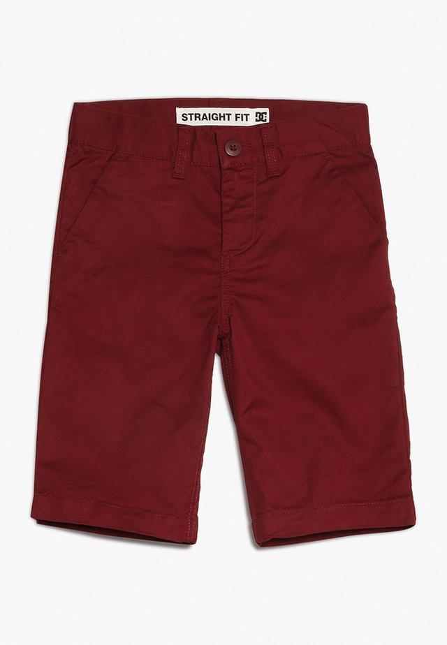 WORKER STRAIGHT - Shorts - cabernet