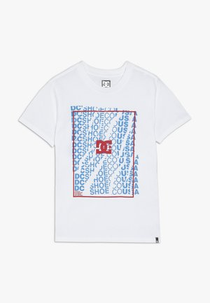 DOUBLE DOOR BOY - T-shirt con stampa - snow white