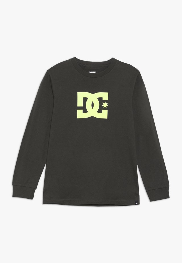 STAR LS 2 BOY - Langarmshirt - dark olive/safety yellow