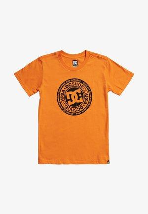 CIRCLE STAR BOY - T-Shirt print - orange/black