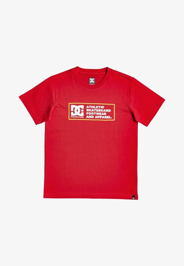SKETCHY ZONE BOY - T-shirt imprimé - racing red