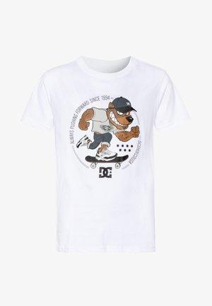 PITBOWL BOY - Printtipaita - white