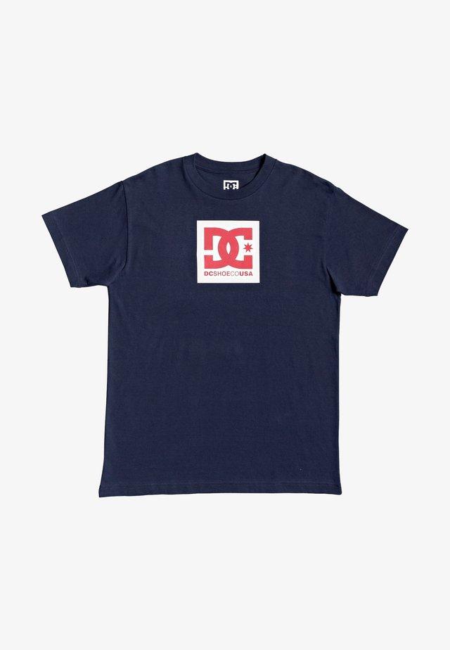 Print T-shirt - black iris