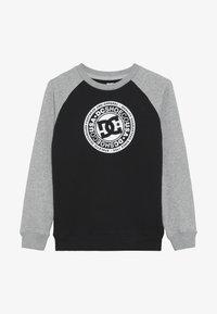 DC Shoes - CIRCLE STAR CREW RAGLAN BOY - Sweatshirts - black/grey heather/snow white - 3