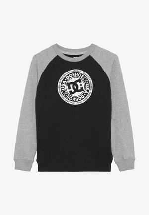 CIRCLE STAR CREW RAGLAN BOY - Mikina - black/grey heather/snow white