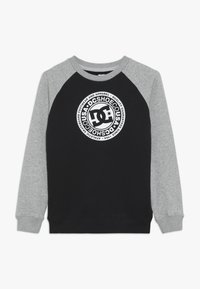 DC Shoes - CIRCLE STAR CREW RAGLAN BOY - Sweatshirts - black/grey heather/snow white - 0