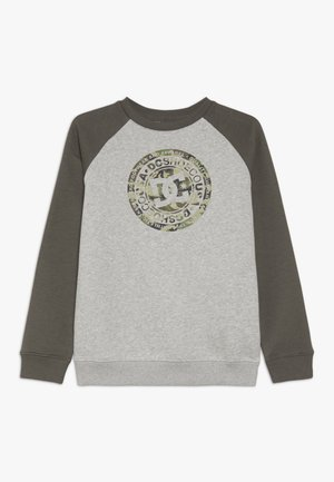 CIRCLE STAR CREW RAGLAN BOY - Sweatshirts - grey heather/dark olive