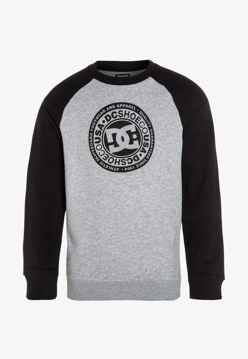 DC Shoes - CIRCLE STAR CREW RAGLAN BOY - Sweatshirt - black/heather grey