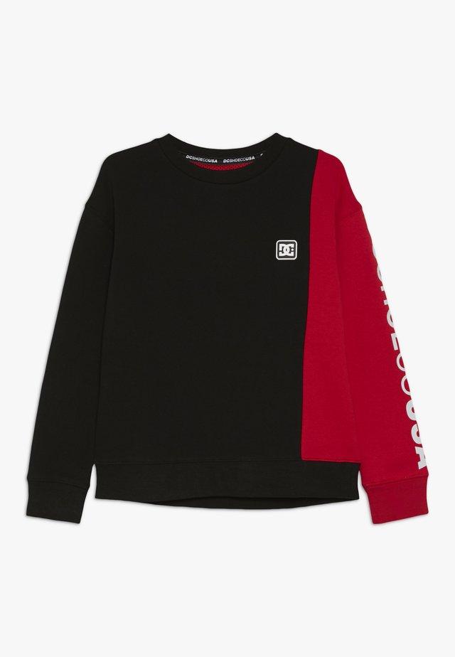WEPMA CREW BOY - Sweatshirts - black/racing red