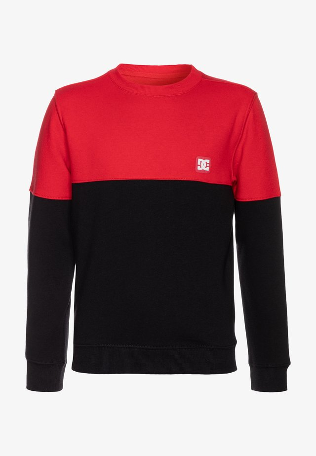 REBEL CREW BLOCK BOY - Sweater - racing red