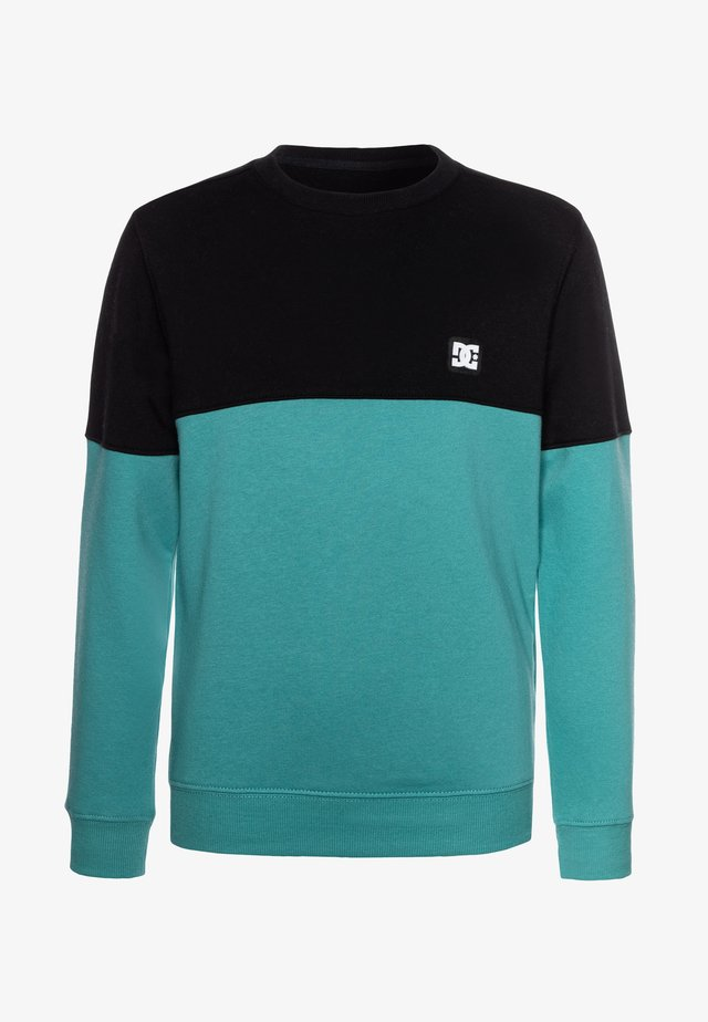 REBEL CREW BLOCK BOY - Sweatshirt - teal
