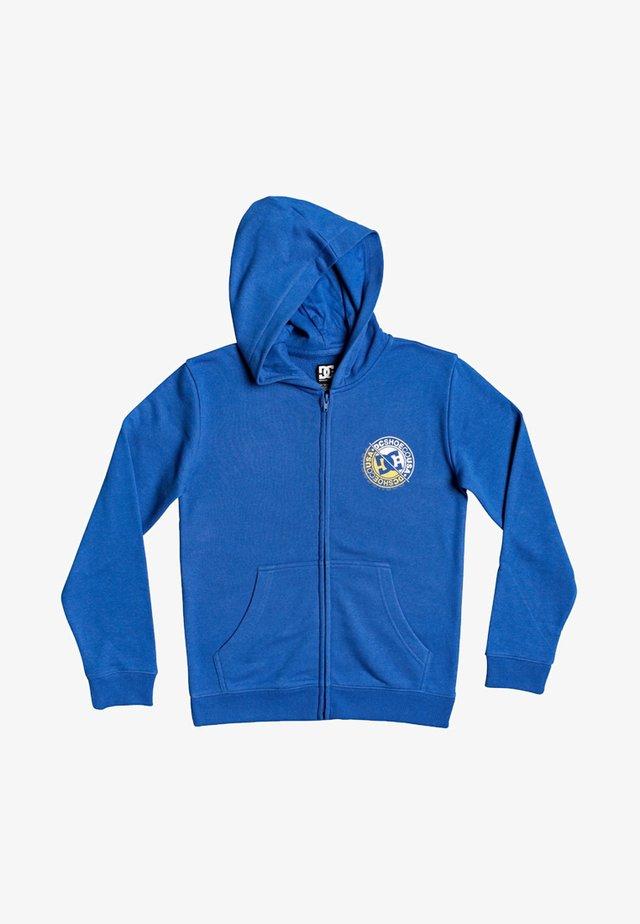 DC SHOES™ BRIGHT ROLLER - KAPUZENPULLI MIT REISSVERSCHLUSS FÜR JU - veste en sweat zippée - nautical blue