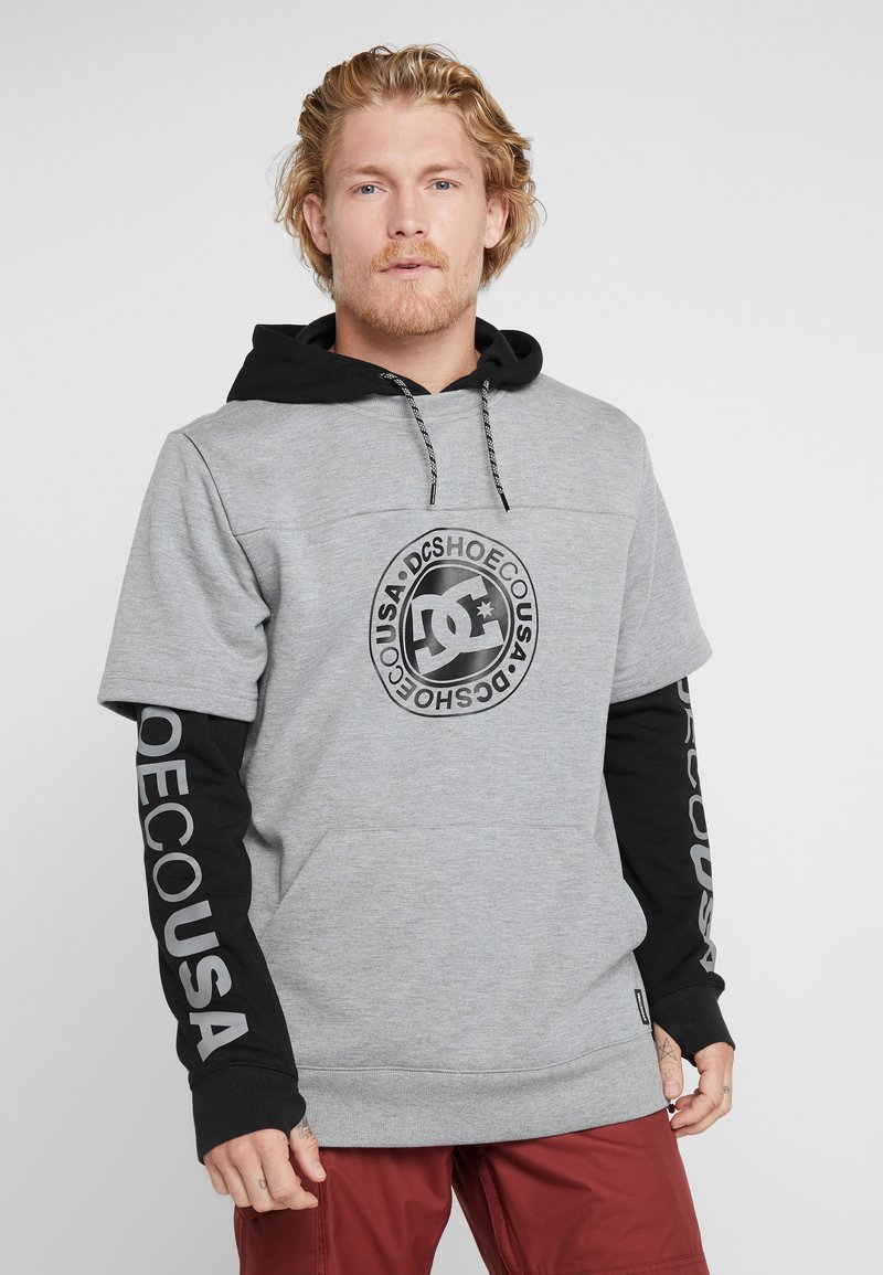 DC Shoes - DRYDEN 2-IN-1 - Felpa con cappuccio - black