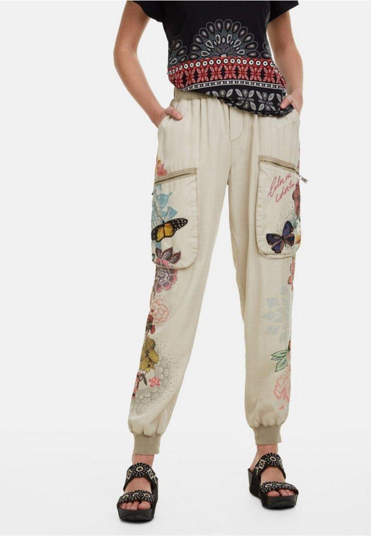 Desigual - PANT_EDDY - Spodnie materiałowe - brown