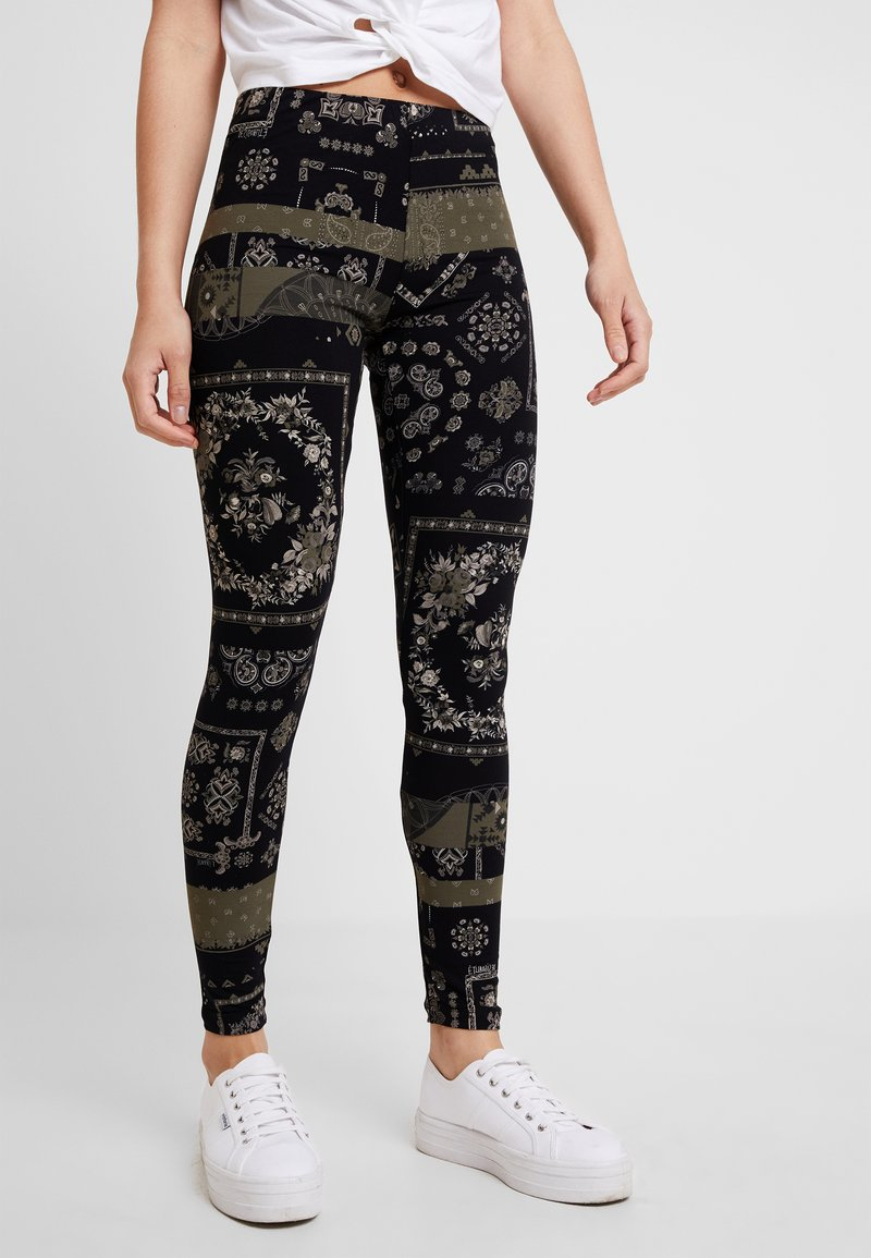 Desigual - SERENNA - Leggings - Trousers - gris alquitran
