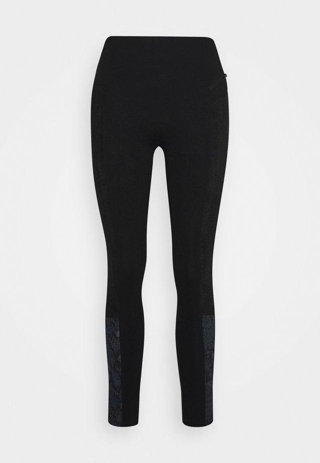 PANT SNAKE LADY - Leggings - black
