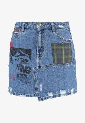 FAL COMIC - A-line skirt - denim medium wash