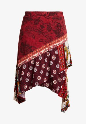 FAL INDIRA - A-snit nederdel/ A-formede nederdele - borgoña