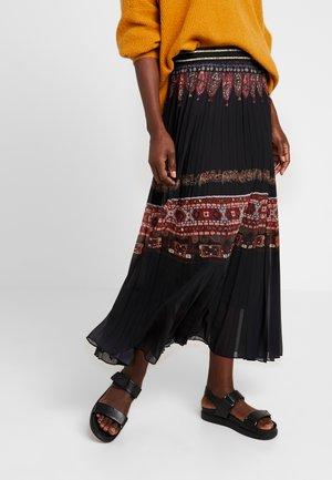 FAL ALEXANDRA - Áčková sukně - black