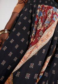 Desigual - FAL BLUNT - A-line skirt - black - 4