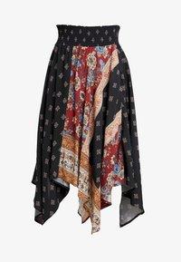 Desigual - FAL BLUNT - A-line skirt - black - 3