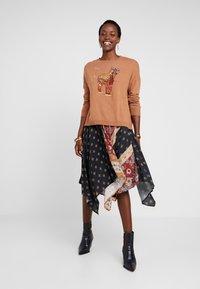 Desigual - FAL BLUNT - A-line skirt - black - 1