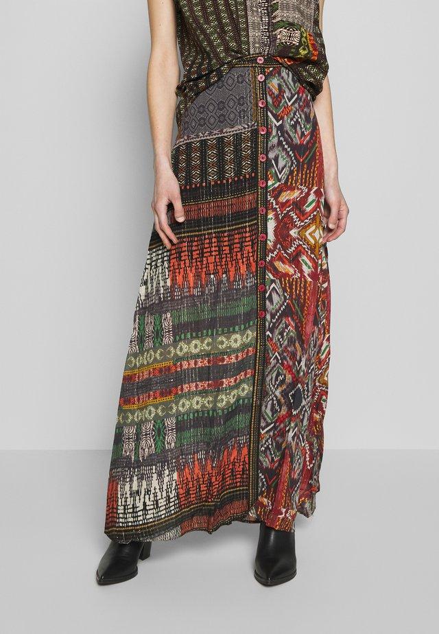 FAL EGINA - Falda larga - rojo oscuro