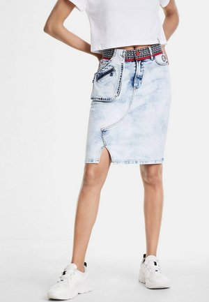 RAQUEL - Wrap skirt - blue