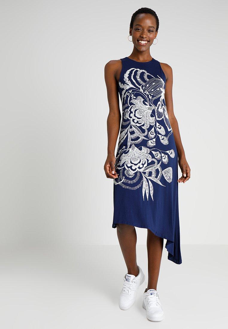 Desigual - VEST WAKIUT - Maxi dress - blue