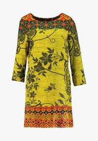 Desigual - ASTRID - Vestido informal - yellow - 3