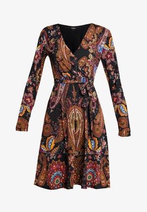 CIRA - Žerzejové šaty - black