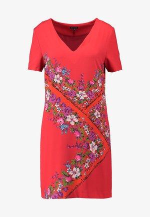 DAMIS - Korte jurk - rojo clavel
