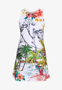 Desigual - TROPICAL PACIFIC - Jersey dress - blanco - 5