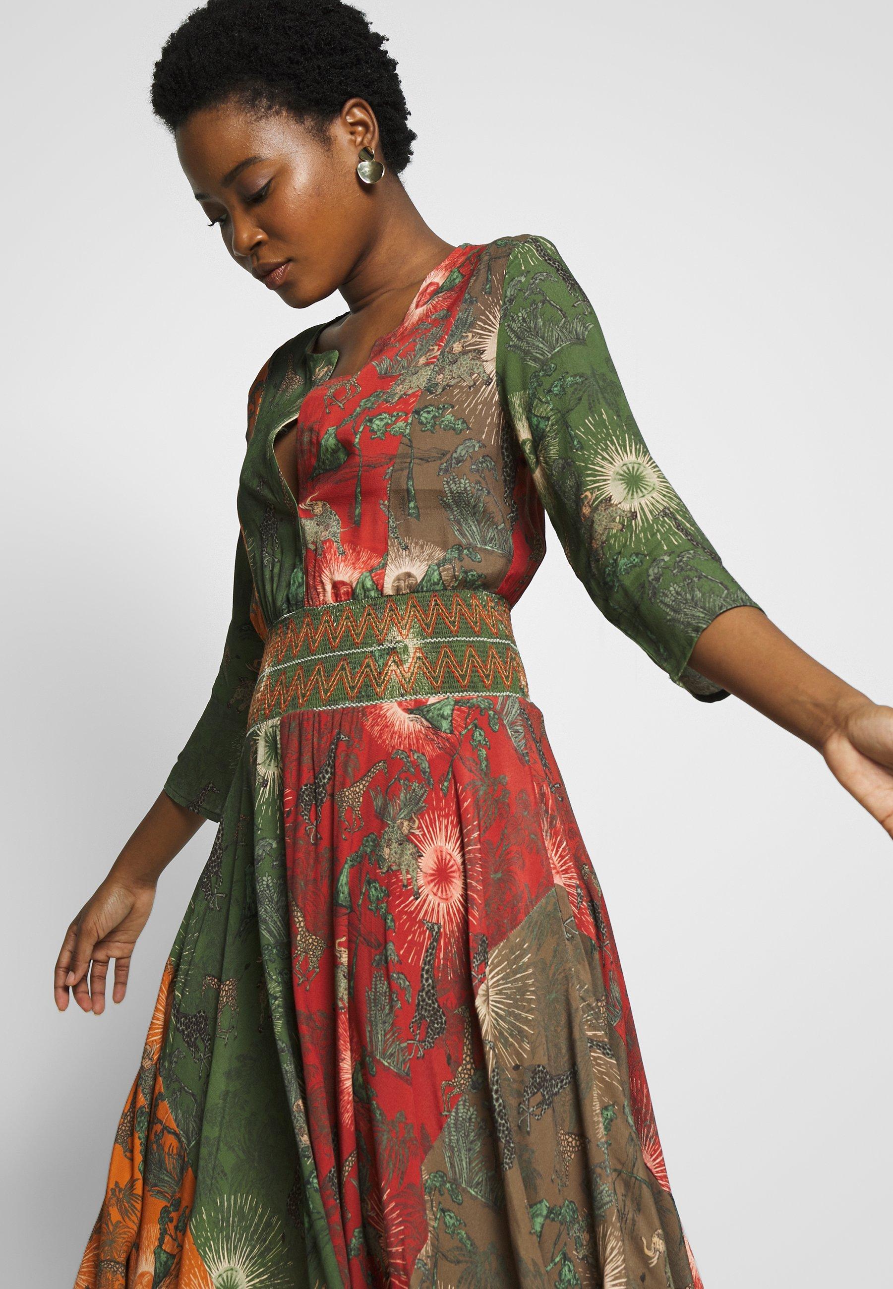 Desigual VEST OHIO - Sukienka letnia - antic green
