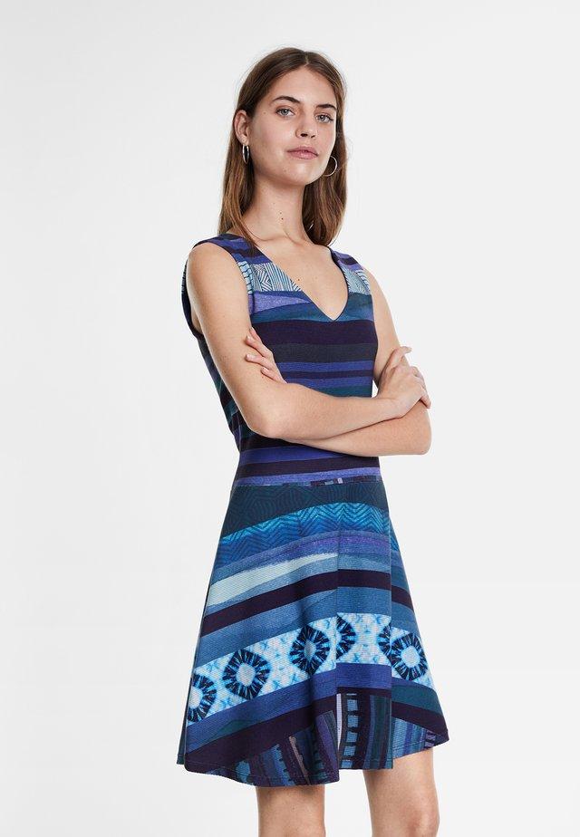 DUNA - Vestito di maglina - blue