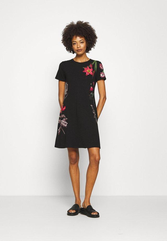 CAROLINE - Vestito di maglina - black