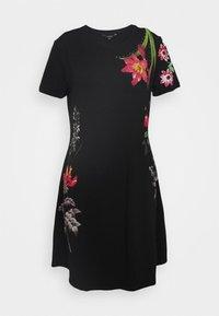 Desigual - CAROLINE - Sukienka z dżerseju - black - 3