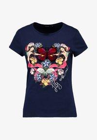 Desigual - NOA - Print T-shirt - blue - 3
