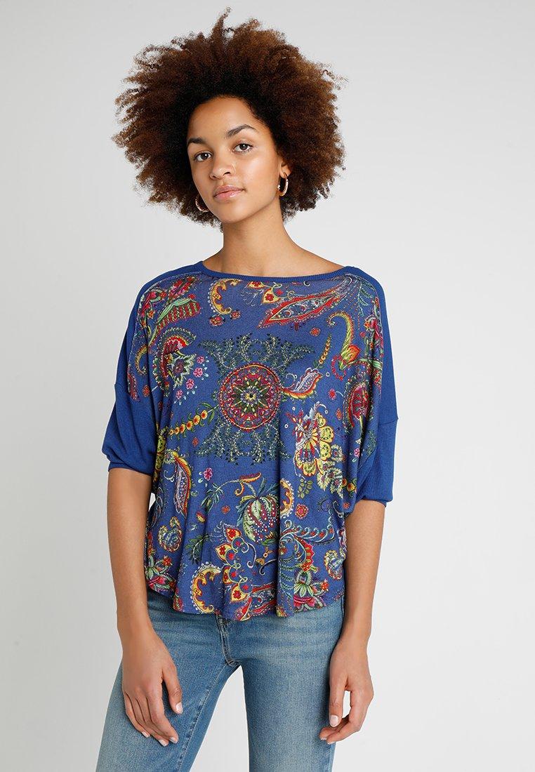 Desigual - ZITA - Bluzka z długim rękawem - blue