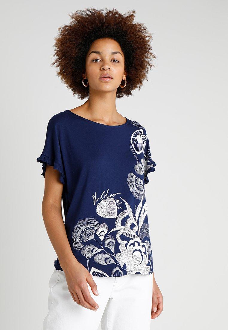 Desigual - CHEROKEES - T-Shirt print - blue