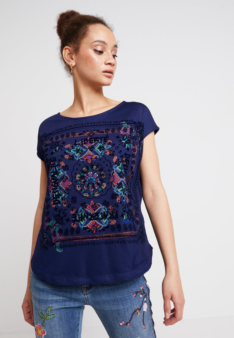 Desigual - LUA - Print T-shirt - blue depths