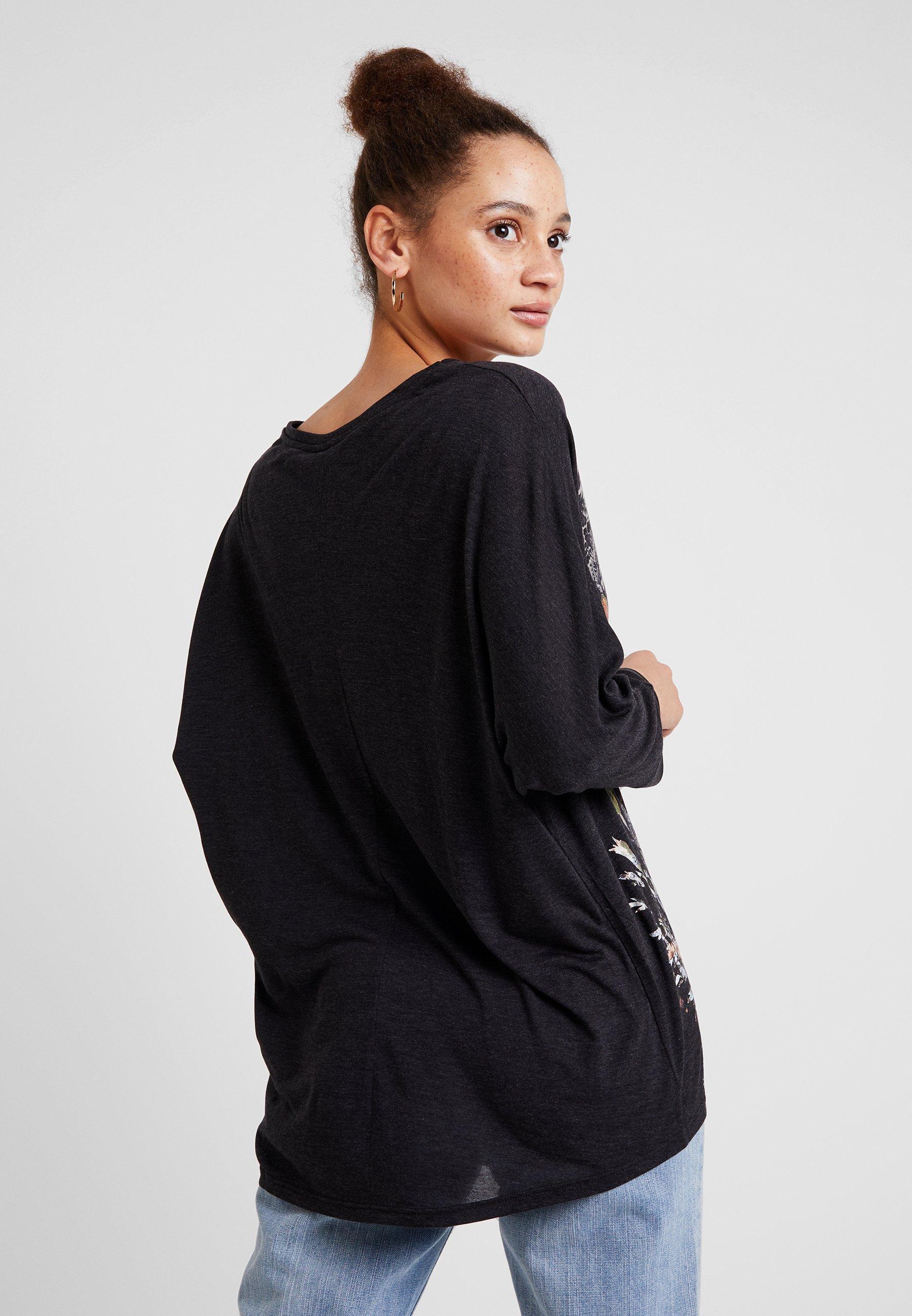 KeilaT À Manches Desigual Oscuro shirt Longues Vigore Gris ulJF3TK1c