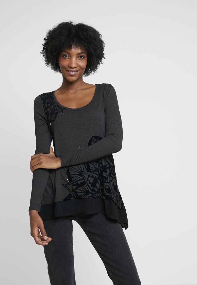 Desigual - SULLIVAN - Maglietta a manica lunga - dark grey