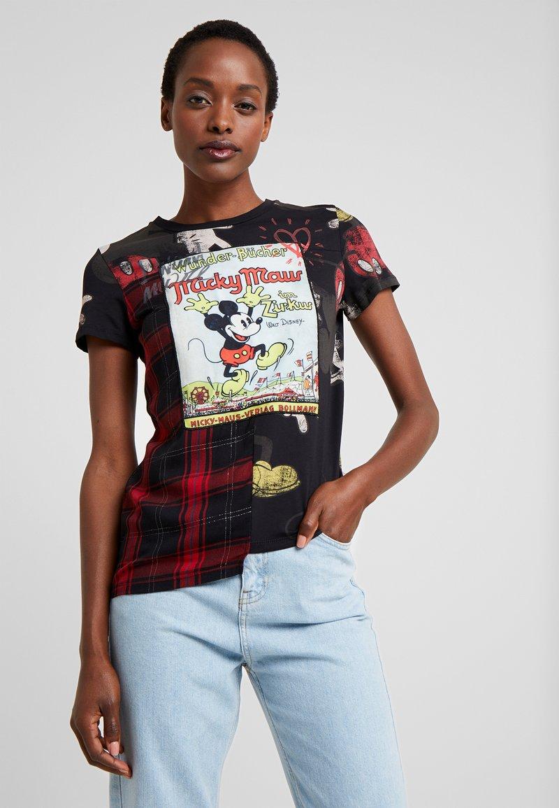 Desigual - MICKY MAUS - T-shirt print - black