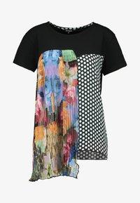 Desigual - FLORENCIA - Camiseta estampada - black - 4