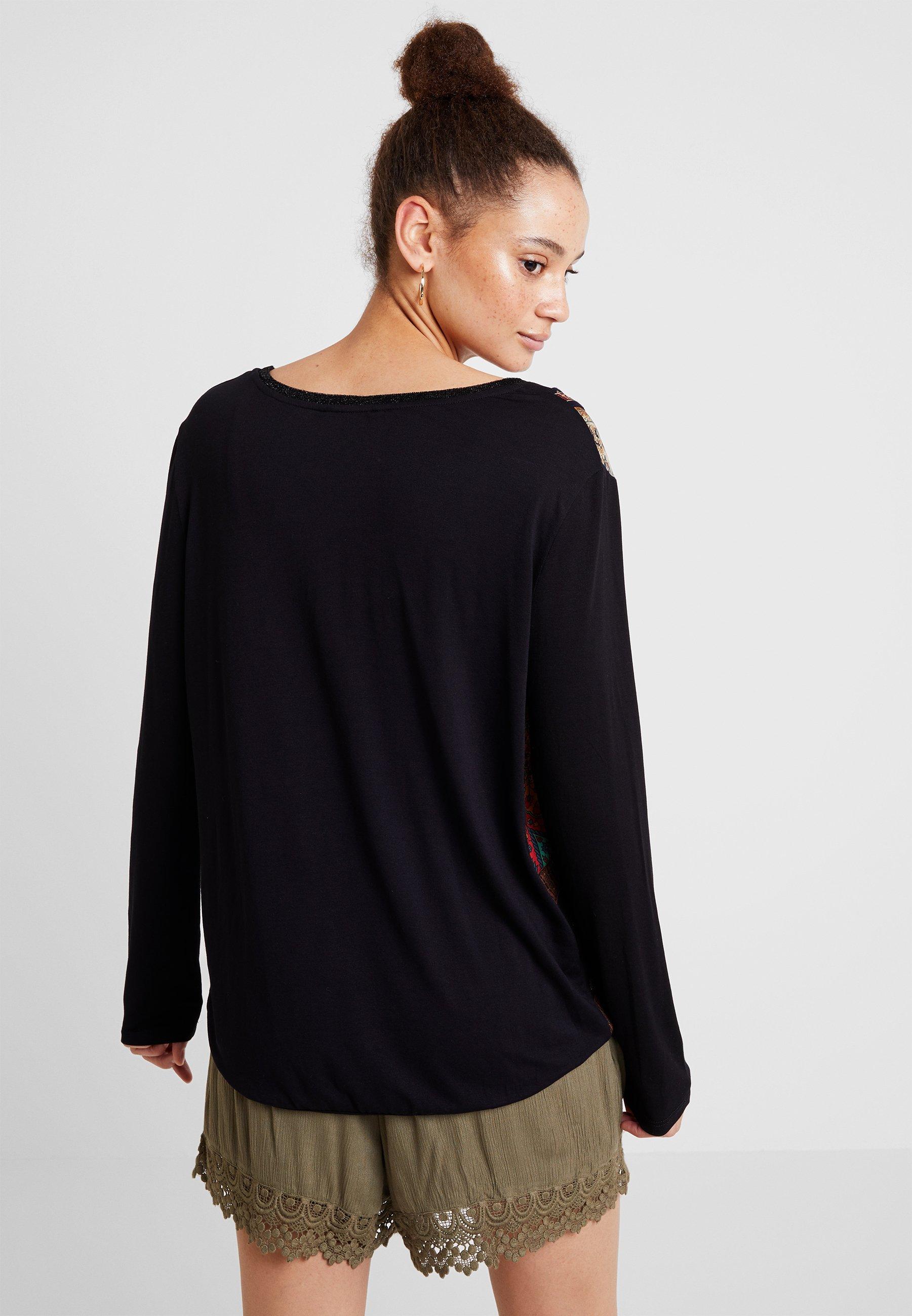 BridgetT À shirt Desigual Manches Black Longues TkPOZuiX