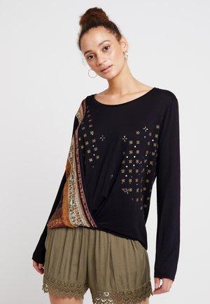 BRIDGET - T-shirt à manches longues - black